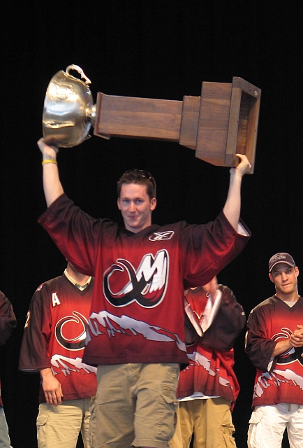 Dan Carey with Cup
